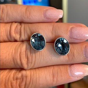 Blue Touchstone Crystal studs